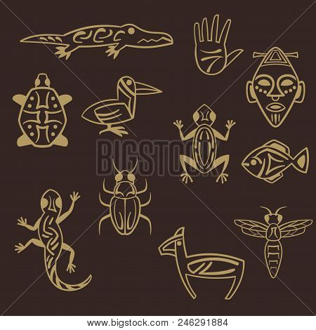 Ancient African Vector Photo Free Trial Bigstock