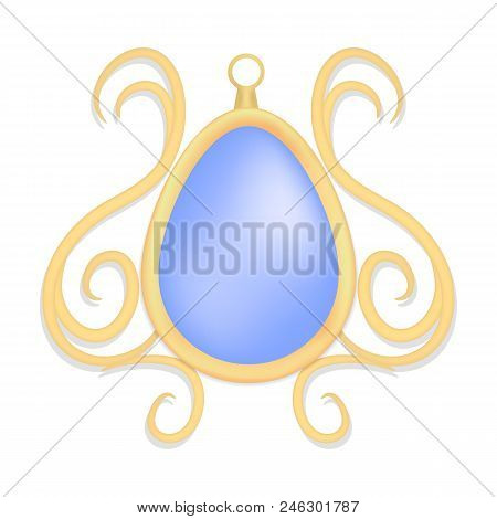 Topaz Jewelry Mockup. Realistic Illustration Of Topaz Jewelry Vector Mockup For Web Design Isolated