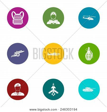 Fate Of The Military Icons Set. Flat Set Of 9 Fate Of The Military Vector Icons For Web Isolated On