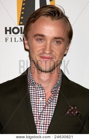 LOS ANGELES - OCT 24:  Tom Felton arriving at the 15th Annual Hollywood Film Awards Gala at Beverly Hilton Hotel on October 24, 2011 in Beverly Hllls, CA