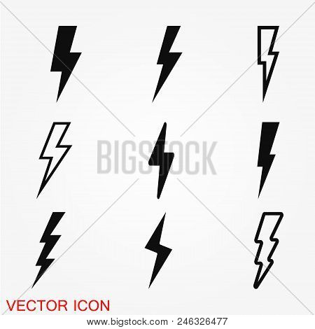 Thunder Bold Lightning Flash Icons Stock Vector