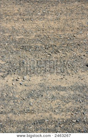 dry unsealed stony mud country desert road poster