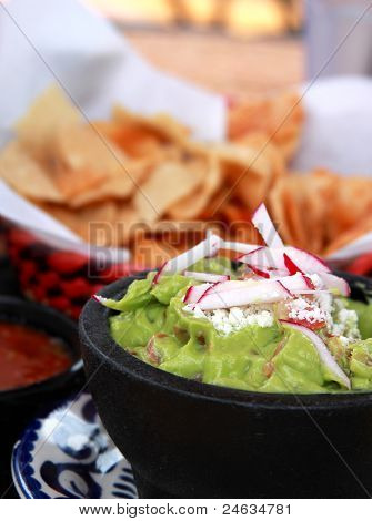 Guacamole, Salsa And Chips