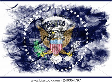 President Of The United States State Smoke Flag, United States Of America