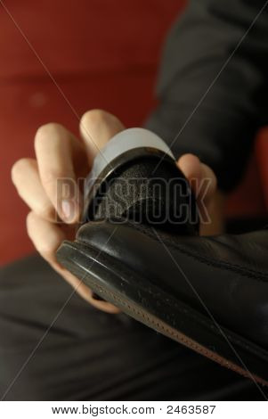 Shining A Leather Boot
