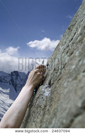 Climber's Hand With Quick-draws