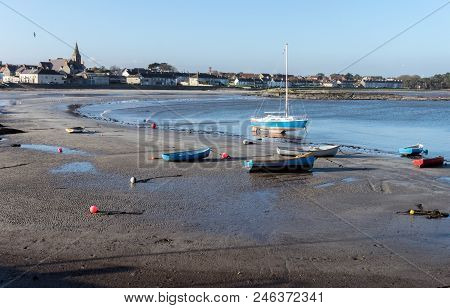 A View Of Boats On Ballywalter Beach, Northern Ireland