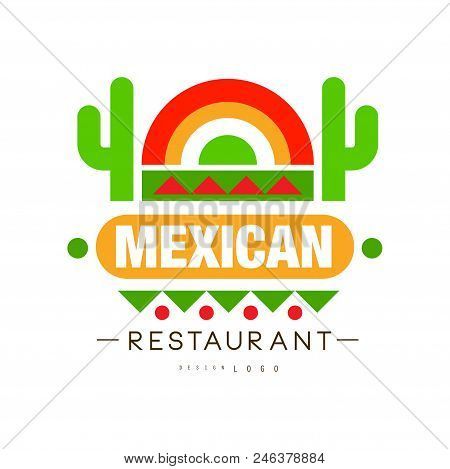 Mexican Restaurant Logo Design, Authentic Traditional Continental Food Label Can Be Used For Cafe, B
