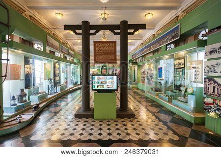 Ho Chi Minh, Vietnam - March 07, 2018: Ho Chi Minh City Museum Or Bao Tang Thanh Pho Interior, Histo