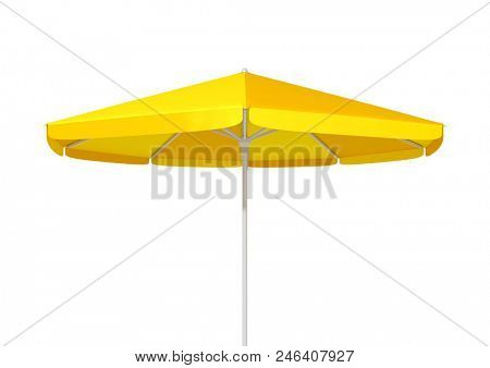 3d illustration of a typical yellow umbrella sunshade