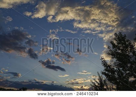 Background Of Storm Clouds Before A Thunder-storm