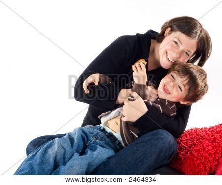 Mutter und Kinder Kleinkind Sohn.
