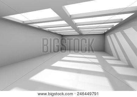 Abstract Architecture Modern Design Background. 3d Render illustration