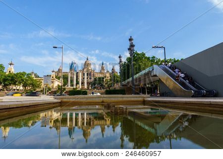 Plaza de Espana in Barcelona, Spain