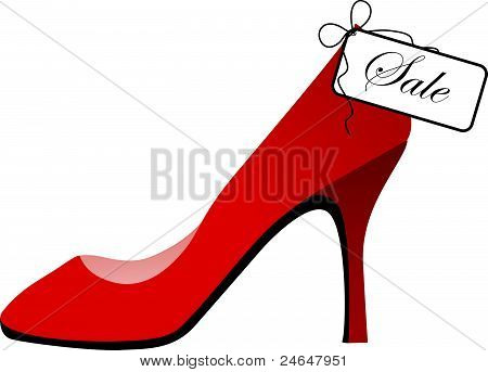 Red shoe for sale