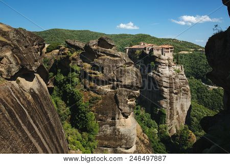 Monastery Of The Great Meteoron - The Largest Monastery In Meteor