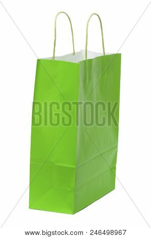 The Only Paper Bag For Green Shopping With White Background.