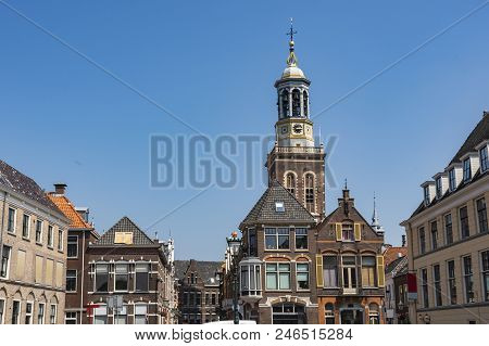 Dome Of The Church And Buildings Of The Center Of The Town Of Kampen. Holland Netherlands