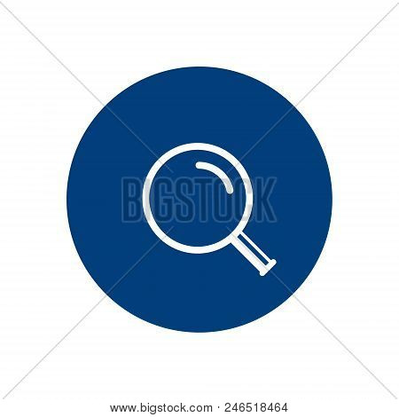 Magnifying Glass Icon, Vector Magnifier Loupe Sign Isolated Simple Search Logo.