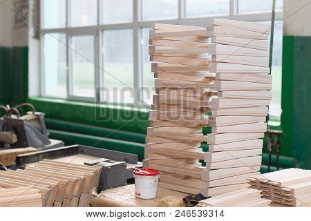 Furniture Factory. Shop For The Production Of Furniture From Wood.billets For Furniture