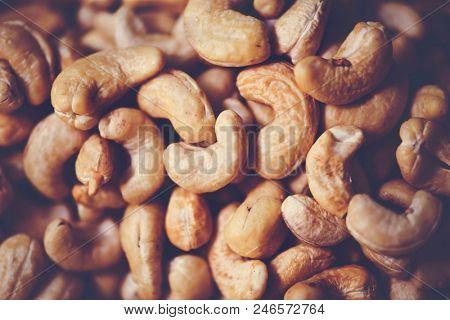 Closeup of cashew nuts