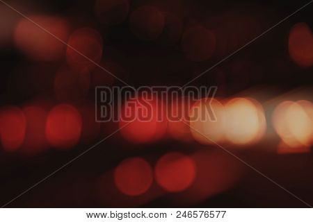 Lighting Abstract Red Bokeh Background At Midnight