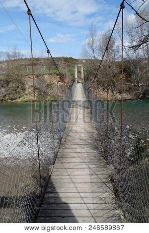 A Suspension Water Bridge In A Non-urban Scene Day.