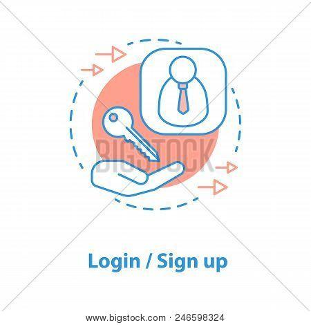Login Concept Icon