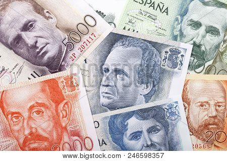 Money From Spain, A Background With Pesetas