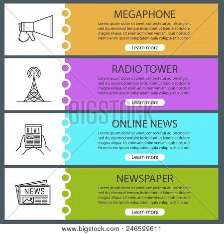 Mass Media Web Banner Vector & Photo (Free Trial) | Bigstock