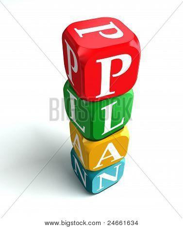 Plan 3D Colorful Buzzword