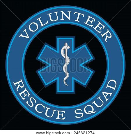 Volunteer Rescue Squad Design Is An Illustration That Can Be Used To Represent Rescue Volunteer Squa