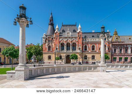Oradea, Romania - 28 April, 2018: The Greek Catholic Bishop Palace In The Center Of Oradea, Romania.