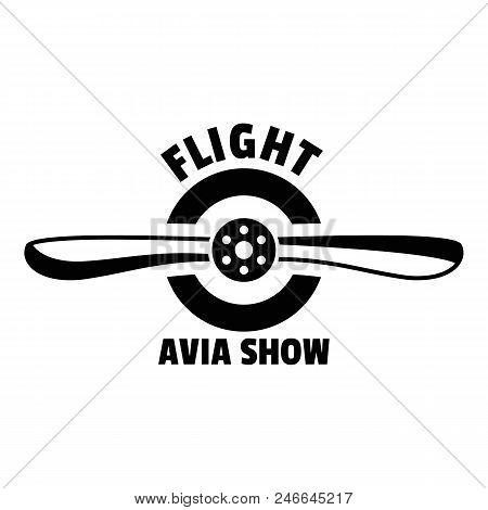 Flight Avia Show Logo. Simple Illustration Of Flight Avia Show Vector Logo For Web Design Isolated O