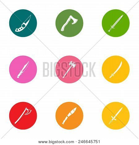 Armament Icons Set. Flat Set Of 9 Armament Vector Icons For Web Isolated On White Background
