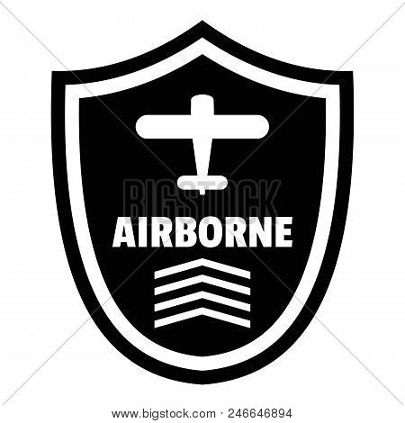 Airborne Badge Logo. Simple Illustration Of Airborne Badge Vector Logo For Web Design Isolated On Wh
