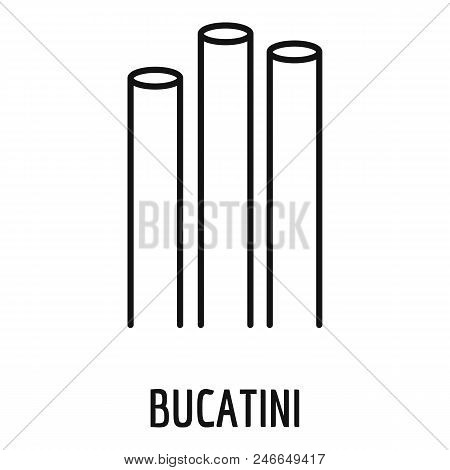 Bucatini Icon. Outline Bucatini Vector Icon For Web Design Isolated On White Background