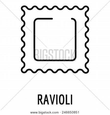 Ravioli Pasta Icon. Outline Ravioli Pasta Vector Icon For Web Design Isolated On White Background