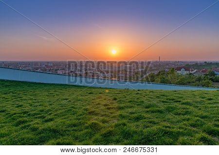 Oradea - View Of Oradea From Mushroom Hill In Romania.
