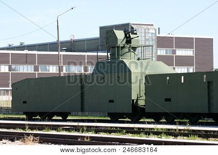 Armoured Train Shot In The Museum Of Technical History