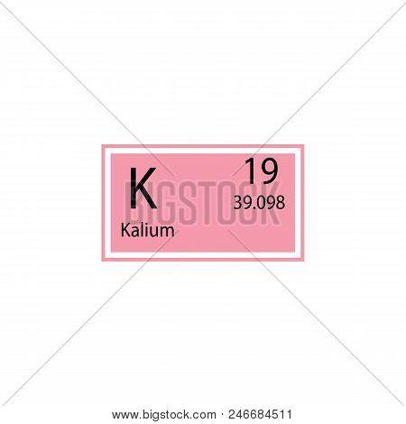 Periodic Table Element Kalium Icon. Element Of Chemical Sign Icon. Premium Quality Graphic Design Ic