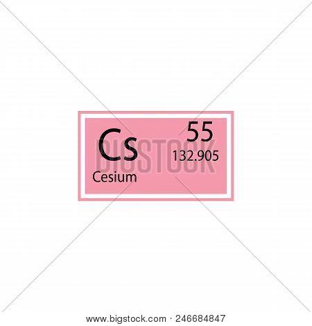 Periodic Table Element Cesium Icon. Element Of Chemical Sign Icon. Premium Quality Graphic Design Ic