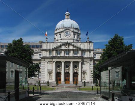 The Dail Parliament Building In Dublin Ireland