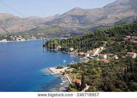 Southern Dalmatia, Croatia. View Of The Coast.