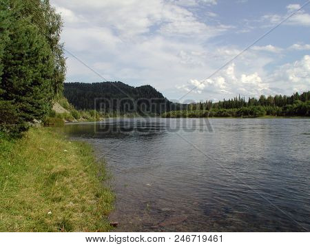 River Biya Before The Confluence Of The River Ob, Altai Region, Siberia, Russia