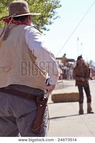 A Gunfight During Helldorado, Tombstone, Arizona