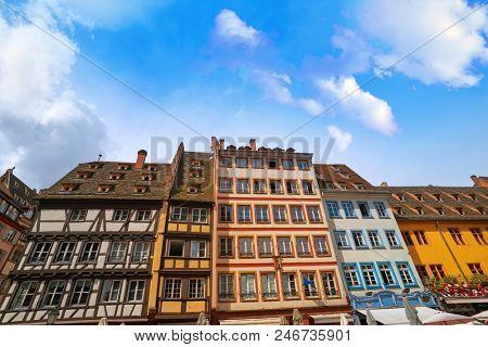 Strasbourg city facades in Alsace France
