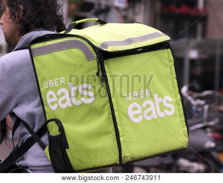 Uber Eats Delivery On A Bike