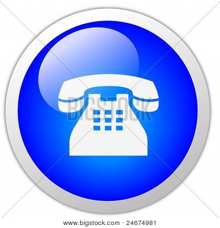 Telephone Icon Button