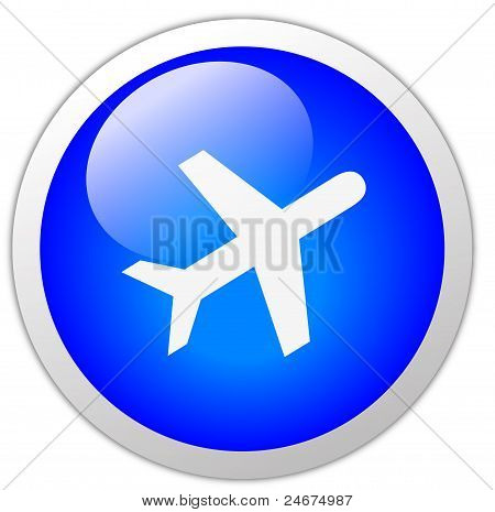 Travel Icon Button